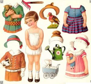 Las muñecas recortables tienen tradicion desde tiempos inmemoriales
